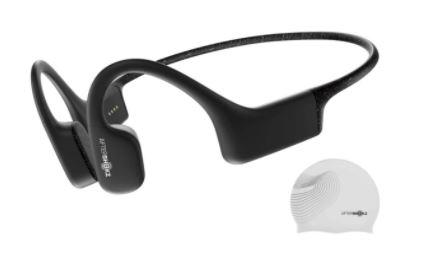 AfterShokz Xtrainerz, casque MP3 à conduction osseuse, idéal pour la pratique de la natation, avec 4 Go de mémoire, Black Diamond